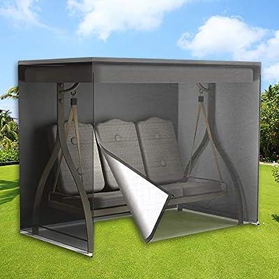 Stronghigheu - Funda para Columpio de 3 plazas, Impermeable, Transpirable, Tela Oxford, Color Negro, 170 x 145 x 220 cm: Amazon.es: Jardín