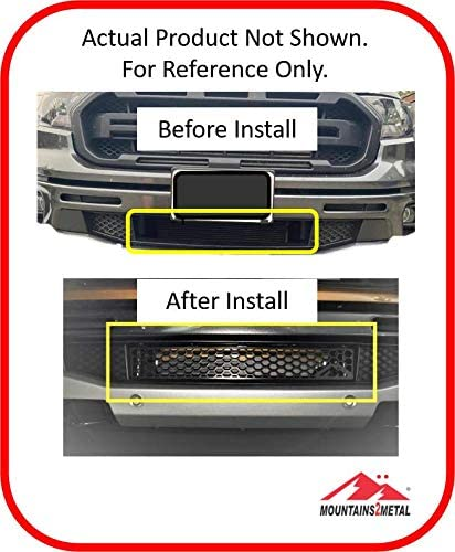 """Mountains2Metal /""""Honeycomb/"""" Edition Powder Coated Black Bumper Grille Insert Fits 2019 Ford Ranger M2M #200-10-1"""