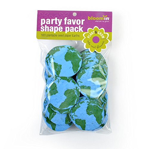 "Bloomin Seed Paper Shapes Packs - Earth Shapes - 100 Shapes Per Pack - 2.1"" {Blue Green}"