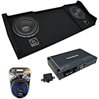 1998-2001 Dodge Ram Ext Club Quad Truck Rockford Prime R1S410 Dual 10 Sub Box Enclosure & R250X1 Amp