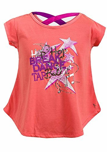 9414a9a62 Amazon.com : Girls Dance Design Print Short Sleeved T-Shirt Top With Cross  Back Detail (4-5 Years) by JoJo Junior : Baby