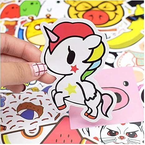 100 unids Estilo de Dibujos Animados Etiqueta Mixta Animal Anime ...