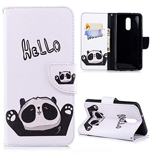 LG Q stylo 4 Wallet Case, LG Q stylo 4 Case PU Leather Folio Flip Kickstand Wallet Card Holder Cover with Magnetic Clasp Closure & Strap for LG Q stylo 4Love Panda from SUPWALL