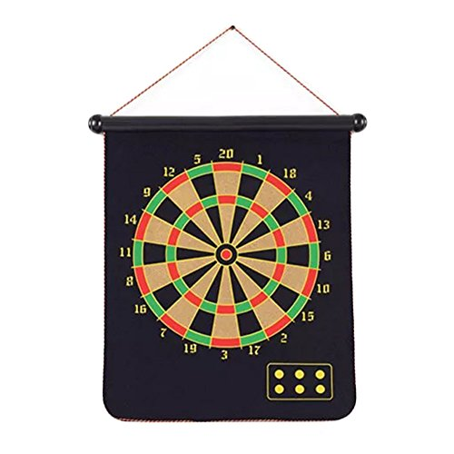 homeju Magnetic Dart Board With 6ダーツ ブラック