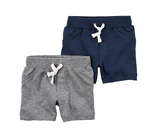 - Carter's Baby Boys' 2-Pack Shorts 18 Months, Blue/Gray