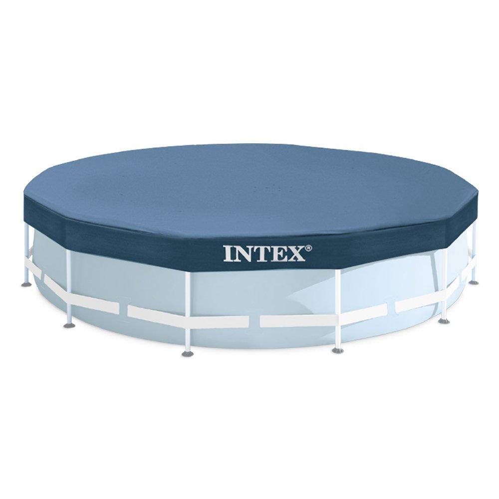 Intex Bâche de protection pour Tubulaire ronde Bleu 366 x 366 x 25 cm 28031 K19212