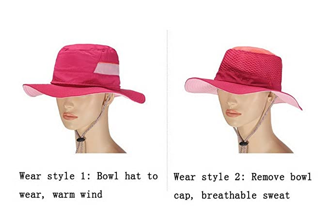 fe8d33764b3d6 Amazon.com  Sun Hat Fishing Hats Multifunctional Floding Cap with  Detachable Sun Caps for Fishing