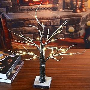 Lightshare 4' Lighted Snow Tree 2