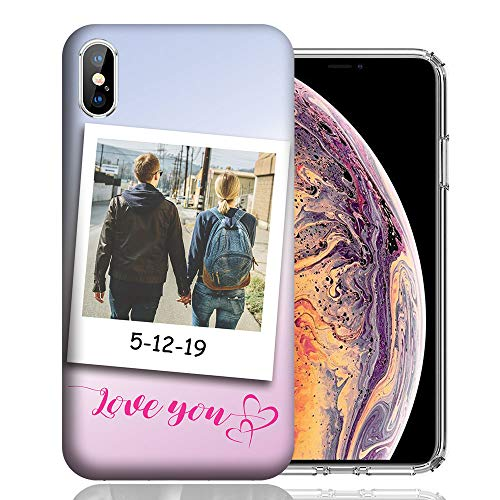 Personalized Text Photo Phone Case Custom Letter Image Cover for Apple iPhone X/Xs/Xs Max/XR/7 8 Plus/7 8/6 Plus/6/5s SE (iPhone XR)