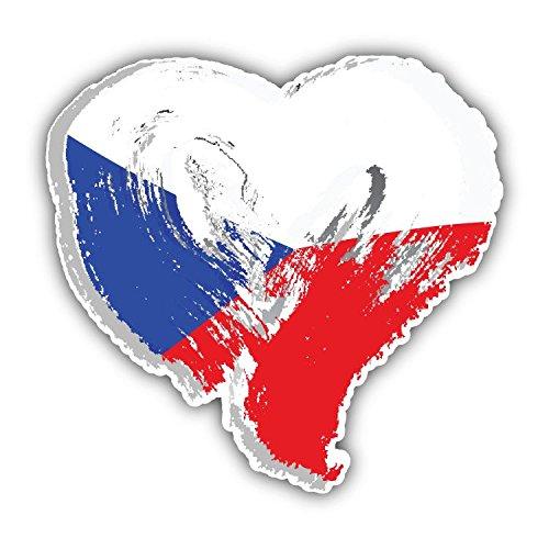 Czech Republic Flag Heart - 8