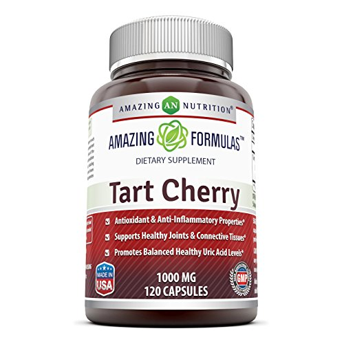 Amazing Formulas Tart Cherry Extract - 1000 Mg, 120 Capsules - Antioxidant Support - Promotes Joint Health & a Proper Uric Acid Level Balance - Tart Cherry Gout