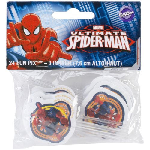 Wilton W35072 Fun Pix, Spider-Man, 24-Pack -
