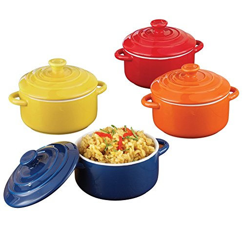 Ceramic Casserole Pots - Set of 4 (Mini Casserole)