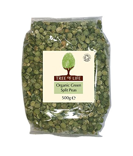Tree of Life Organic Green Split Peas 500g - Pack of 2 by Tree of Life