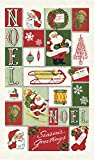 Cavallini Papers & Co., Inc. Christmas Noel Tea Towel