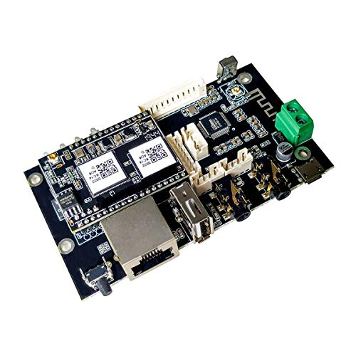 WiFi and Bluetooth 5.0 HiFi Music Multiroom Streaming Audio Receiver Board with Home Stereo System for DIY Speaker-Up2Stream Pro V3