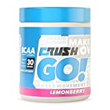 Crush GO! BCAA + Vitamin-C - Amino Acids For Recovery - No Fillers, No Dyes, No Proprietary Blends (Lemonberry)