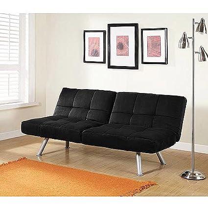 amazon com mainstays contempo futon sofa bed black kitchen dining rh amazon com Black Futon Walmart Red Futon Sofa Bed