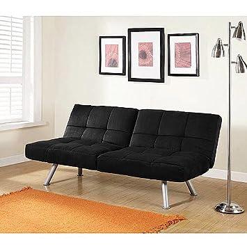 mainstays futon sofa bed black ebay uk kebo amazon beds ireland