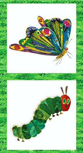 VERY HUNGRY CATERPILLAR Quilting Kids Fabric Panel by Makower - 100% Cotton by Makower