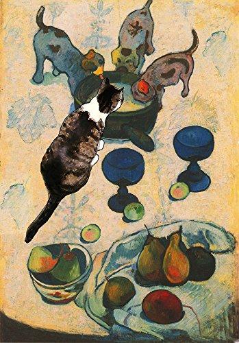 Paul Gauguin's Cat Greeting Card, Blank, Handmade 5 X 7 Inches, Artwork By Deborah Julian
