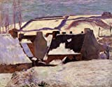 Gauguin Paul Pont Aven in the Snow 100% Hand Painted Oil Paintings Reproductions 12X16 Inch