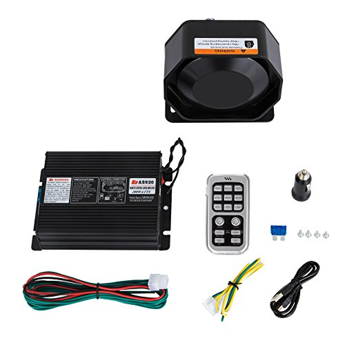 (Mophorn 200W 18 Sound Loud Car&Truck Warning Alarm Police Siren Horn 18 Tones Fire Ambulance Emergency Electronic Siren Horn kit PA MIC)