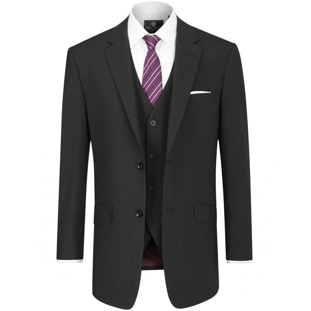 Skopes Wool Rich Darwin Black Suit Jacket