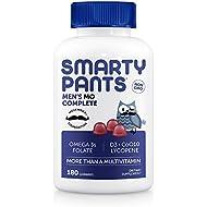SmartyPants Men's Complete Daily Gummy Vitamins: Gluten Free, Multivitamin, CoQ10, Vitamin D3, Vitamin B12, Lycopene, Methyl B12, Omega 3 EPA/DHA Fish Oil, Non-GMO, 180 count (30 Day Supply)