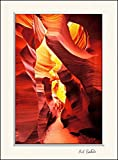 11 x 14 inch mat including photograph of Red Navaho sandstone rock formation of Lower Antelope Slot Canyon, AZ.