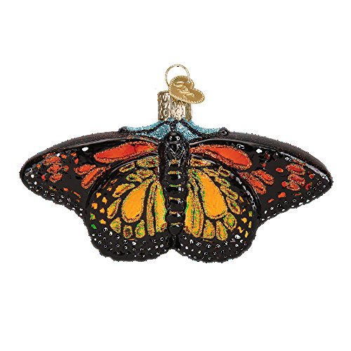Old World Christmas Spring Garden Glass Blown Ornament (Monarch (Butterfly Ornaments For Christmas)