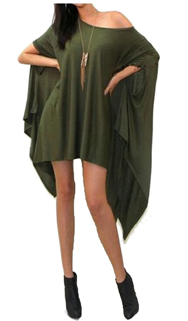 M/&S/&W Womens Ruched Half Sleeve Shawl Loose Fit Asymmetric Tunic Shirt