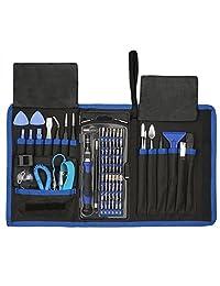 UnaMela - Juego de destornilladores de precisión con kit de destornillador magnético, herramientas de reparación para teléfono, portátil, Xbox, PS4, tabletas, ordenador, gafas, cámara, relojes, juguete