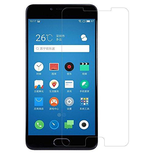 [2 Packs] Meizu M5 Screen Protector, Meizu M5 Tempered Glass Screen Protector, Anti-Scratch HD Clear Screen Guard for 5.2'' Meizu M5 [NOT fit 5.0'' Meizu M5c / Meizu M5s / 5.5'' Meizu M5 Note]