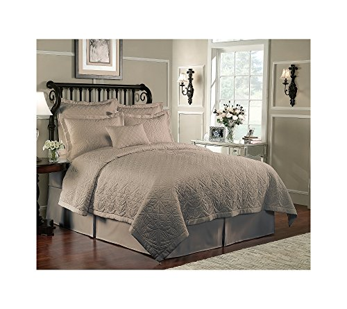 Waterford Linens Lismore Quilted King Pillow Sham Cafe
