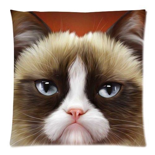 Louisa Maxine Home Decor Pillowcases Funny Grumpy Cat 18X18