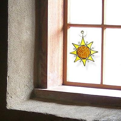 American Made Contemporary Sun Art Glass Sun-Catcher : Suncatchers : Garden & Outdoor