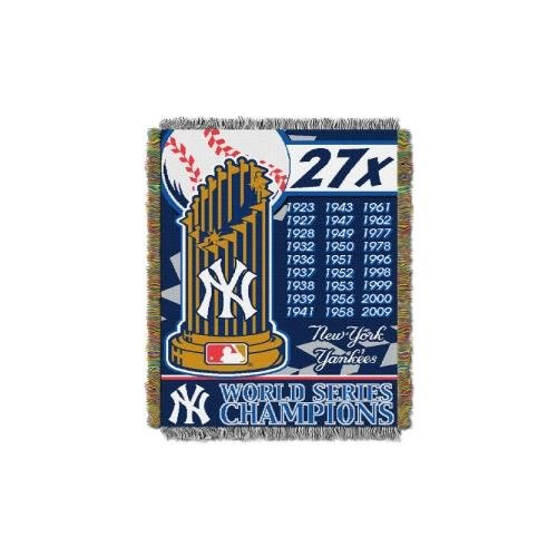 Commemorative Woven Mlb Tapestry Throw (MLB New York Yankees Commemorative Woven Tapestry Throw, 48