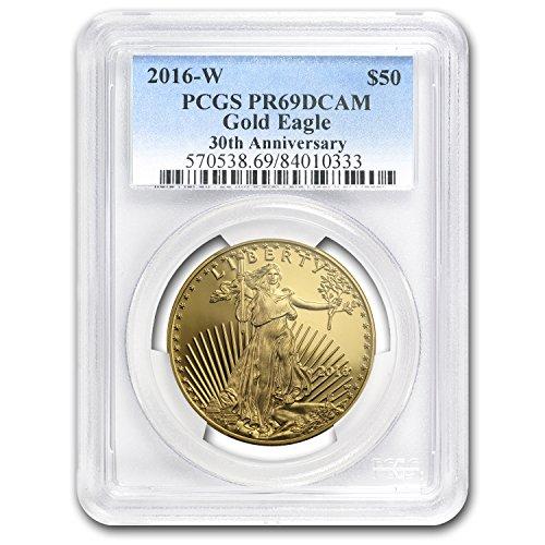 2016 W 1 oz Proof Gold American Eagle PR-69 PCGS 1 OZ PR-69 PCGS