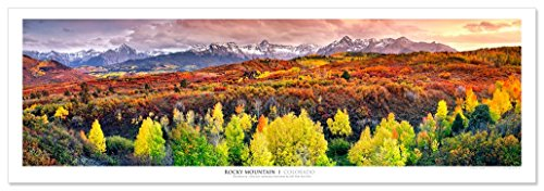 Award Winning Landscape Panoramic Art Print Poster: Rocky Mountains, Colorado (Colorado Pictures)
