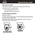 Bemis Plastic Elongated Toilet Seat with WhisperClose, EasyClean and Change Hinges