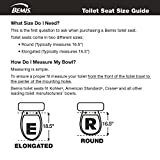 Mayfair NextStep Adult Toilet Seat with Built-in Child Potty Training Seat, Round, White, 83SLOWA 000/883SLOWA 000