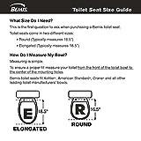 Mayfair 83SLOWA 000/883SLOWA 000 NextStep Adult Toilet Seat with Built-in Child Potty Training Seat, Round, White