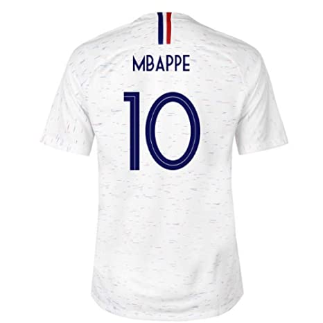 2018-2019 France Away Nike Football Soccer T-Shirt Camiseta (Kylian Mbappe 10
