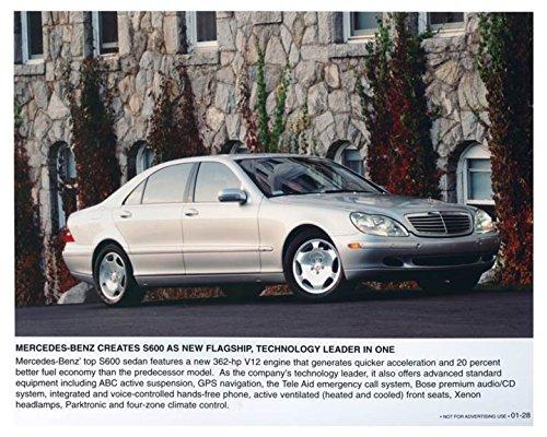2001 Mercedes Benz S600 Sedan Automobile Photo Poster -