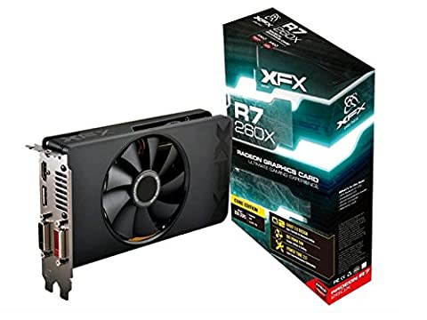 XFX RADEON R7 260X 1075MHz 2GB DDR5 DP HDMI 2 X DVI Graphics Card (R7260XCNF4) (Amd Radeon 260)