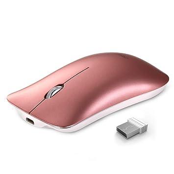 Ratón inalámbrico, Inphic Slim Silent Click Recargable 2.4G Ratones inalámbricos 1600DPI Mini óptico portátil de viaje wireless mouse para PC Ordenador ...