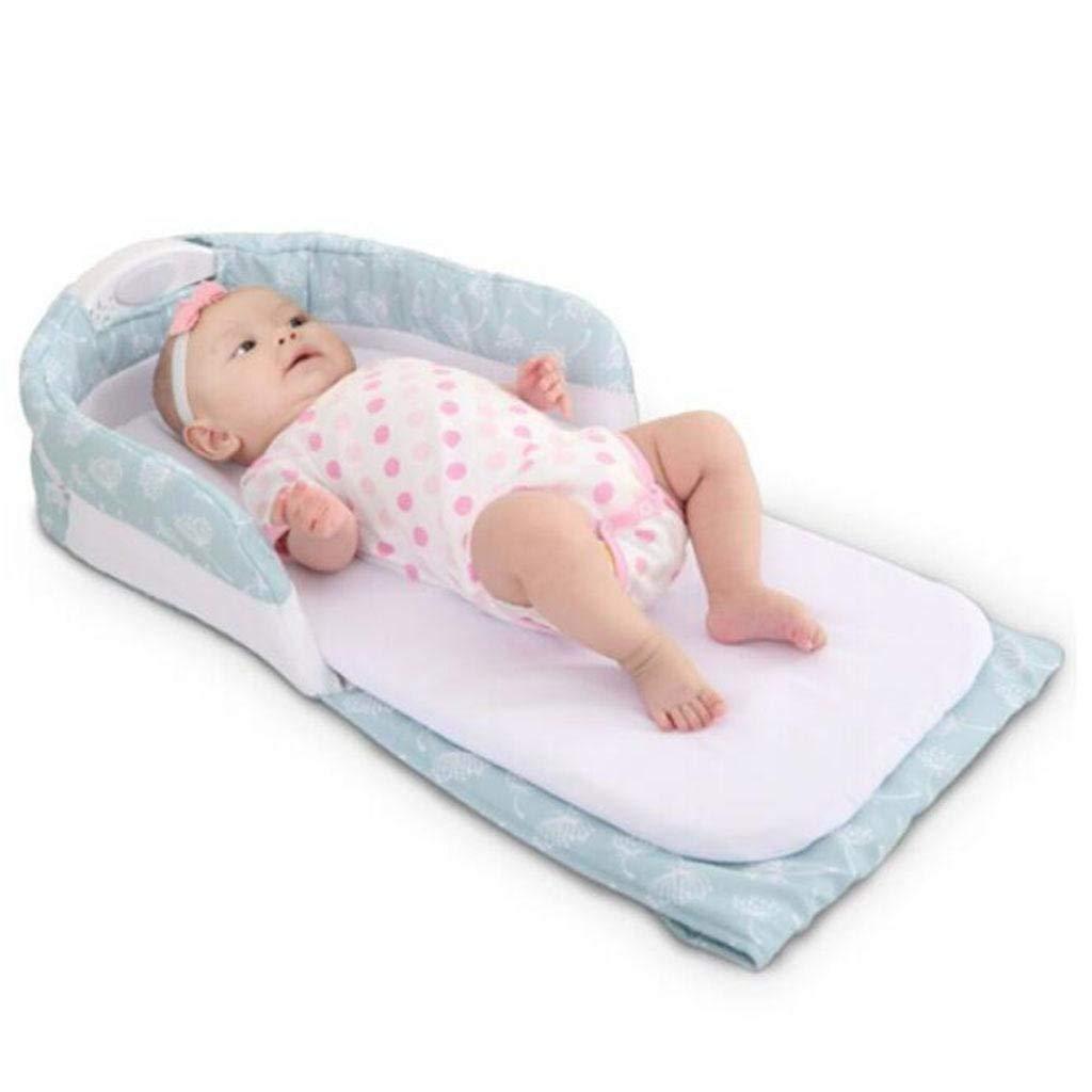 BCX Amultifunction Portable Baby Cot Newborns Plegable Travel Bed Blue