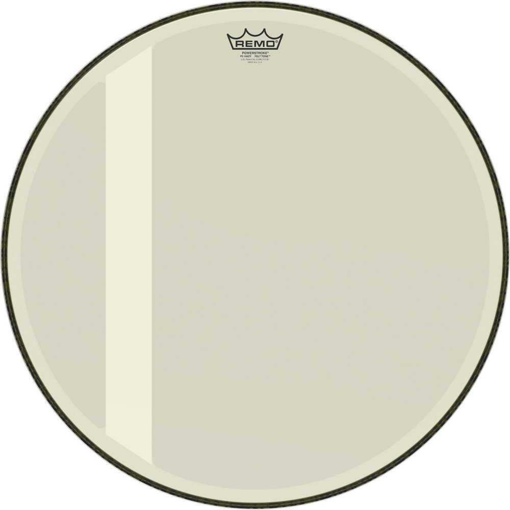Remo P3-1018-00-FLT Powerstroke P3 Felt Tone, Hazy, 18