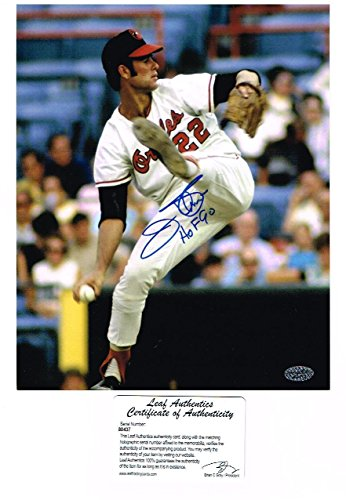 Jim Palmer Signed Picture - HOF 90 8x10 Leaf - Autographed MLB Photos (Card Palmer Jim)